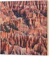 Sunrise On The Hoodoos Wood Print