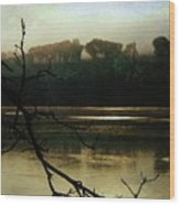 Sunrise On The Hudson River, No. 14 Wood Print