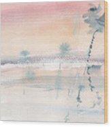 Sunrise On The Lagoon Ccxv Wood Print