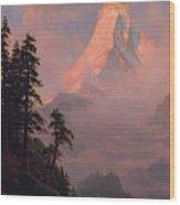 Sunrise On The Matterhorn         Wood Print