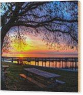 Sunrise On The Neuse Wood Print