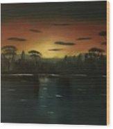 Sunrise On The Nile  Wood Print