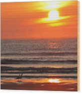Sunrise On The Oceanside Wood Print