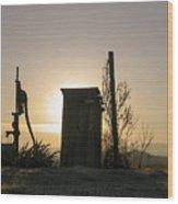Sunrise On The Past Wood Print