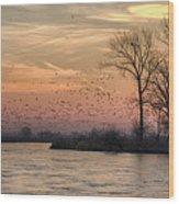 Sunrise On The Platte Wood Print
