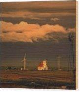 Sunrise On The Prairie Wood Print