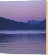 Sunrise On The Prince William Sound Wood Print