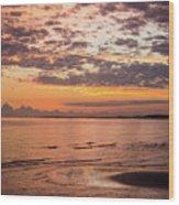 Sunrise On The Shore  Wood Print