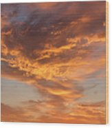 Sunrise Orange Sky, Willamette National Forest, Oregon Wood Print