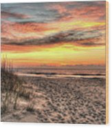 Sunrise Outer Banks Of North Carolina Seascape Wood Print