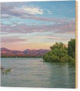 Sunrise Over A Colorado Lake  Wood Print