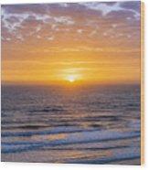 Sunrise Over Atlantic Ocean Wood Print
