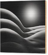 Sunrise Over Bodywaves Wood Print