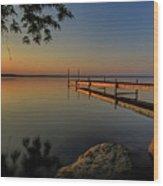 Sunrise Over Cayuga Lake Wood Print