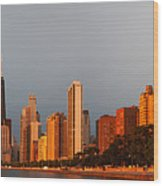 Sunrise Over Chicago Wood Print