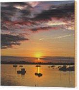 Sunrise Over City Island Wood Print