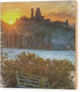 Sunrise Over Corfe Wood Print