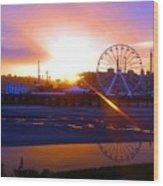 Sunrise Over Del Mar Fair Wood Print
