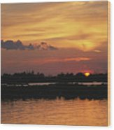 Sunrise Over Delacroix Island Wood Print by Medford Taylor