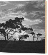 Sunrise Over Fort Salonga B W Wood Print