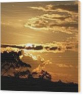 Sunrise Over Fort Salonga4 Wood Print