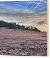 Sunrise Over Ft. Apache Wood Print