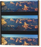 Sunrise Over Grand Canyon Wood Print