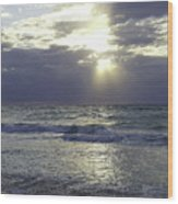 Sunrise Over Gulf Of Mexico Wood Print
