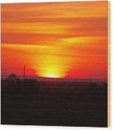 Sunrise Over Hanford  Wood Print