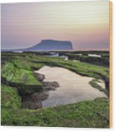 Sunrise Over Jeju Island Wood Print