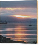 Sunrise Over Kachemak Bay Wood Print