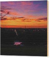 Sunrise Over Kennedy's Grave Arlington Cemetery Wood Print
