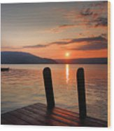 Sunrise Over Keuka IIi Wood Print by Steven Ainsworth