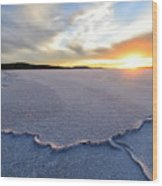 Sunrise Over Lake Gairdner, Wood Print