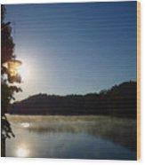 Sunrise Over Lake Lainer Wood Print