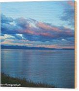 Sunrise Over Lake Yellowstone Wood Print