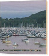 Sunrise Over Mallets Bay Panorama - Two Wood Print