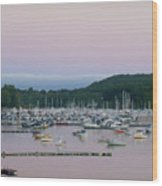 Sunrise Over Mallets Bay Variations - Two Wood Print