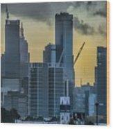Sunrise Over Melbourne Wood Print