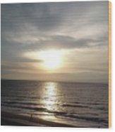Sunrise Over Myrtle Beach, Sc Wood Print