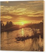 Sunrise Over  Payette River Wood Print