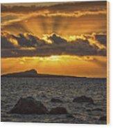 Sunrise Over Rabbit Head Island Wood Print