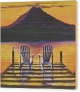 Sunrise Over Rainier Wood Print