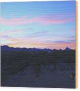 Sunrise Over Rincon Mountains Wood Print