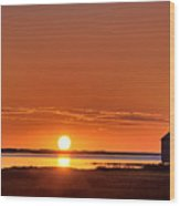 Sunrise Over Salt Pond Wood Print