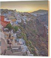Sunrise Over Santorini, Greece 1 Wood Print