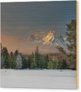 Sunrise Over Sawtooth Mountains Idaho Wood Print by Knowles Photography