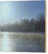 Sunrise Over The Androscoggin River Wood Print