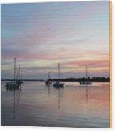 Sunrise Over The Atlantic Ocean Wood Print