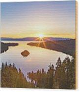 Sunrise Over The Bay Wood Print